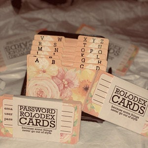 Cute Rolodex cards and dividers