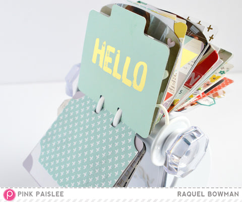 Rolodex used as a scrapbook. Bible journal