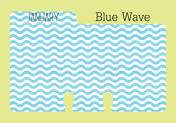 Rolodex monthly Dividers in Blue Wave Print