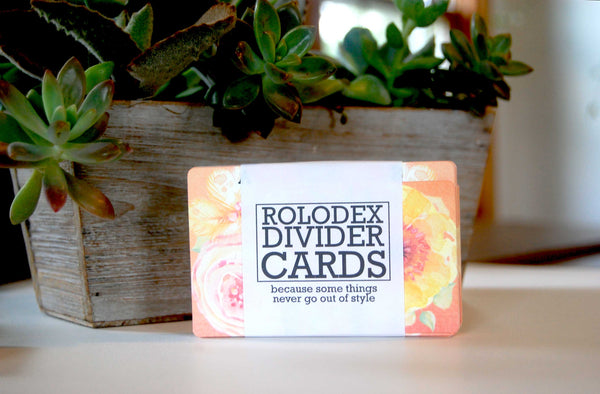 Printed Rolodex Dividers Floral