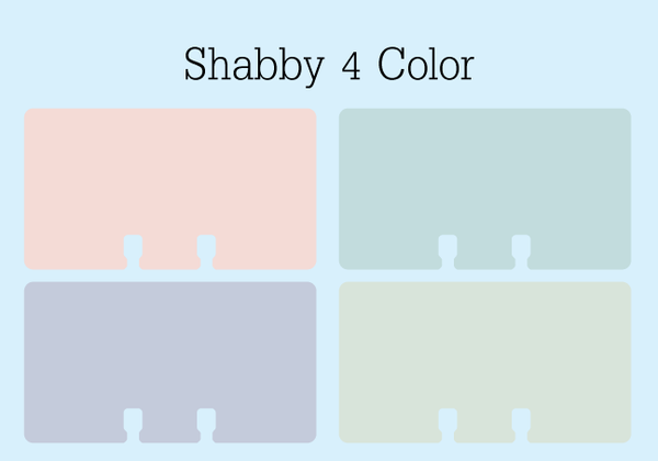 Shabby 4 Color Tiny Rolodex Cards: These Rolodex refill cards are in 4 pretty colors: soft pink, soft green, soft purple, soft yellow