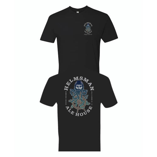 Men's Tee - Black - Helmsman Logo