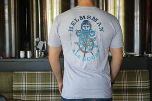 Men's Tee - Heather Grey - Helmsman Logo