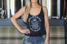 Load image into Gallery viewer, Women's Racer Back Tank - Black - Helmsman Logo