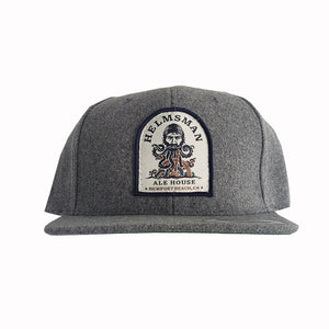 Gray Wool Patch Hat