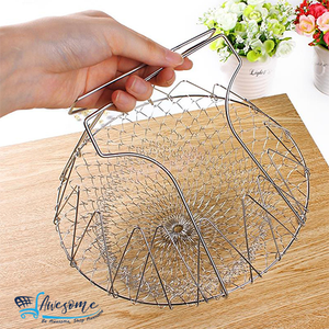 Kitchen Tool for Deep Frying Steel Basket