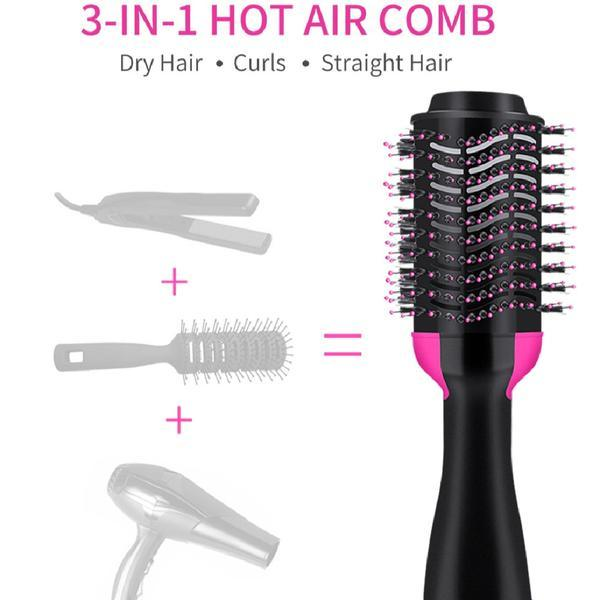 3 In 1 Brush Hair Dryer, Straightener and Volumizer