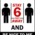 stay 6 feet away unisex tshirt
