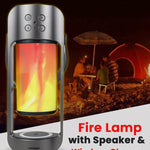 Fire Lamp with Speaker and Wireless Charger