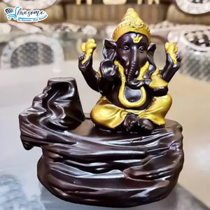 Lord Ganesha (Golden) Smoke Fountain