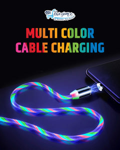 Magnetic USB Glowing LED Light Cable