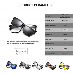 Magnetic 5 in 1 Sunglasses