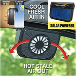 Solar Power Car Window Air Vent Cooler