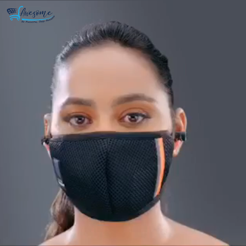 Protection Mask with Wireless Bluetoot Earphones.