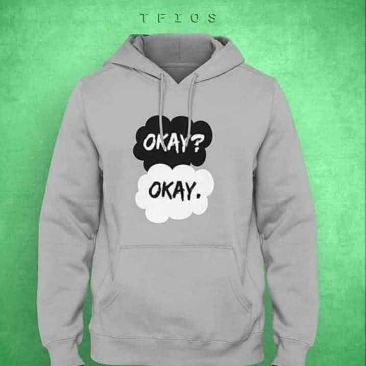 OKAY? OKAY. Printed Hoodie - Mart of Fashion