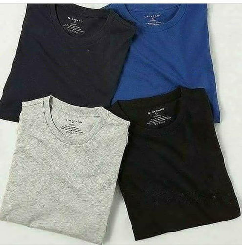 Pack of 4 Plain T-shirt - Mart of Fashion