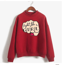 Load image into Gallery viewer, Fight Like a Girl Printed  Sweatshirt