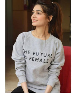 Grey Printed Sweatshirt - Mart of Fashion