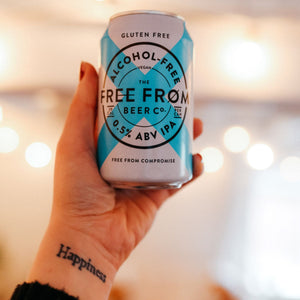 4x 330ml Cans 0.5% ABV Alcohol-Free IPA (Gluten Free & Vegan)