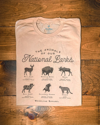 Animals of the National Parks Tee
