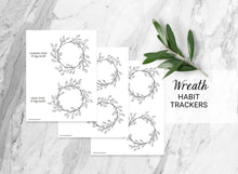 Load image into Gallery viewer, Wreath Habit Trackers - Weekly & Monthly