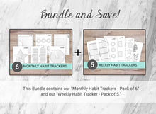 Load image into Gallery viewer, Habit Trackers Bundle of 11 (Set A)