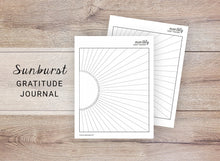 Load image into Gallery viewer, Sunburst Monthly Habit Tracker & Gratitude Journal