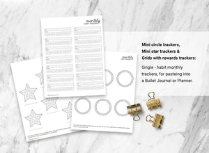 Habit Trackers Bundle of 11 (Set B)