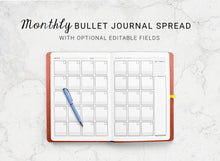 Load image into Gallery viewer, Dotted Journal Monthly Spread