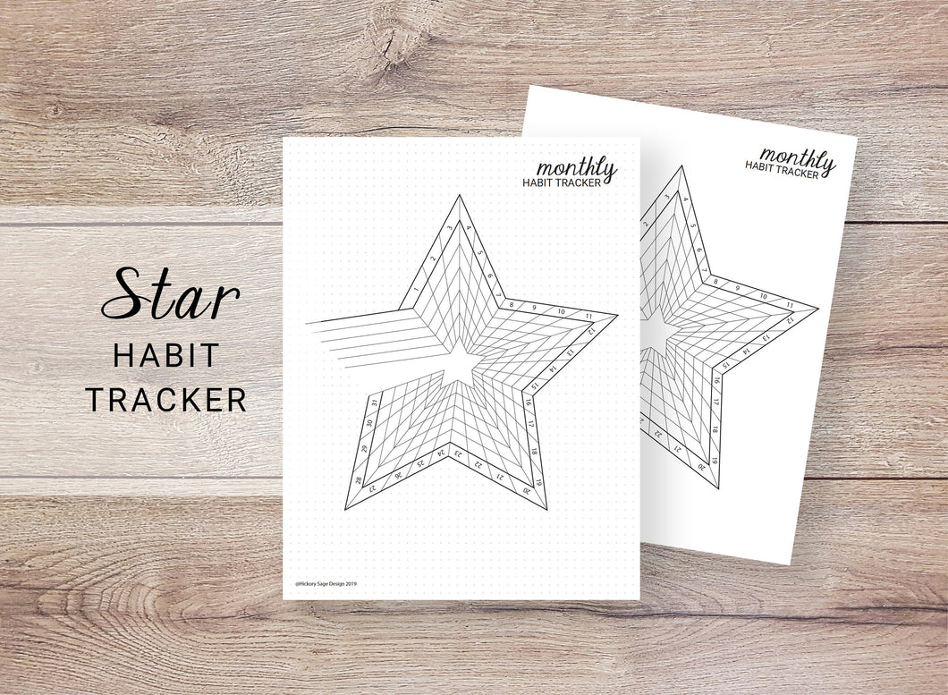 Star Habit Tracker - Monthly