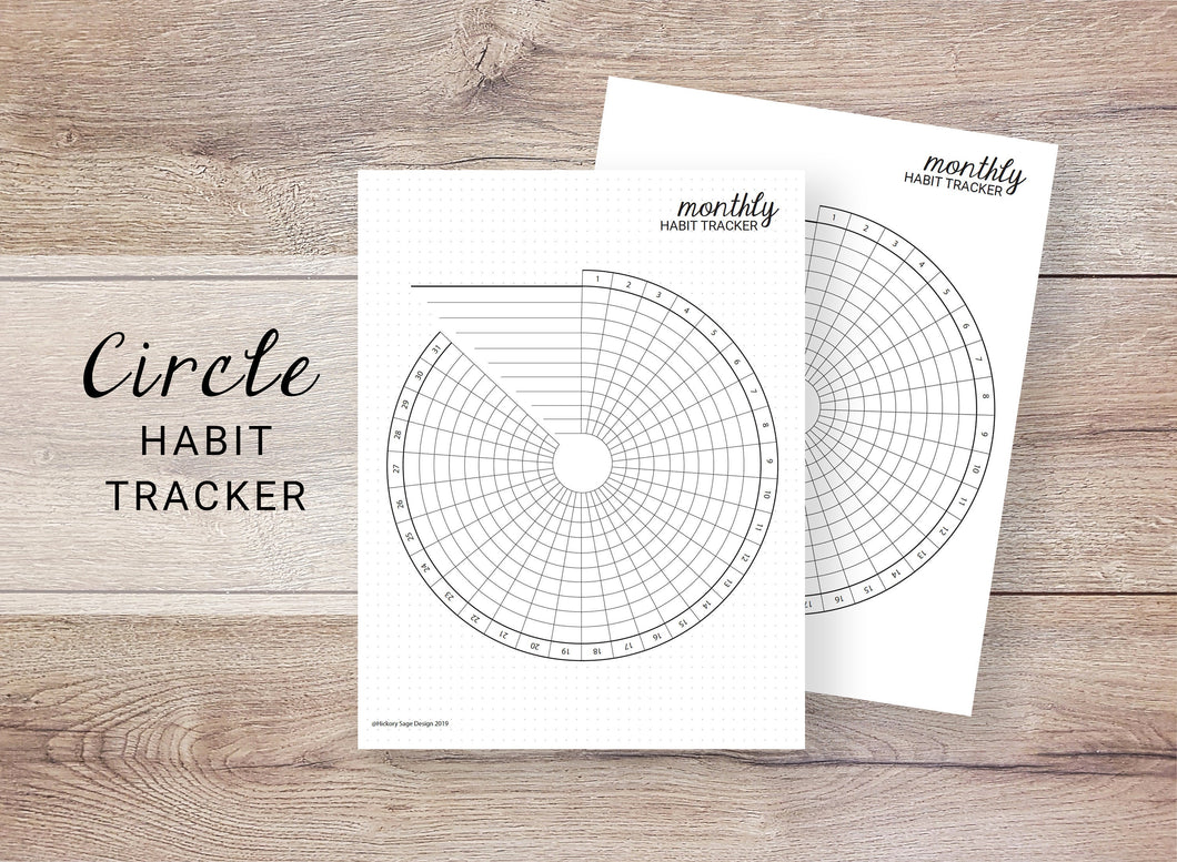 Circle Habit Tracker - Monthly