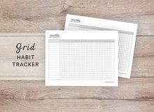 Load image into Gallery viewer, Grid Monthly Habit Tracker