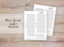 Load image into Gallery viewer, Mini Grids Habit Trackers - Monthly