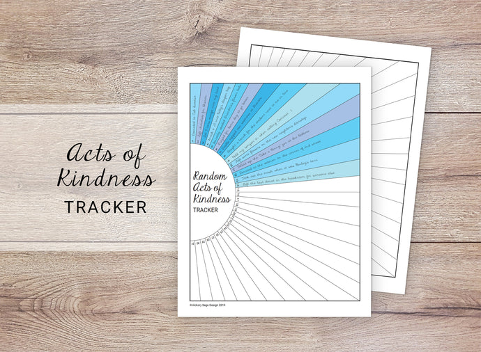 Acts of Kindness Habit Tracker