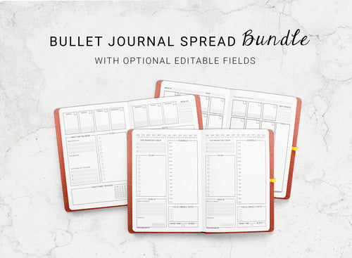 Bundle of Dotted Journal Spreads