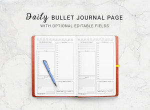 Daily Dotted Journal Planning Insert