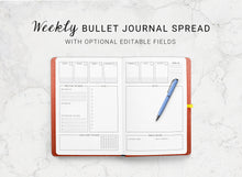 Load image into Gallery viewer, Dotted Journal Weekly Spread
