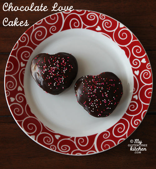 "Gluten Free Chocolate ""Love"" Cakes and intro to new GF Blog– My Gluten-Free Kitchen"