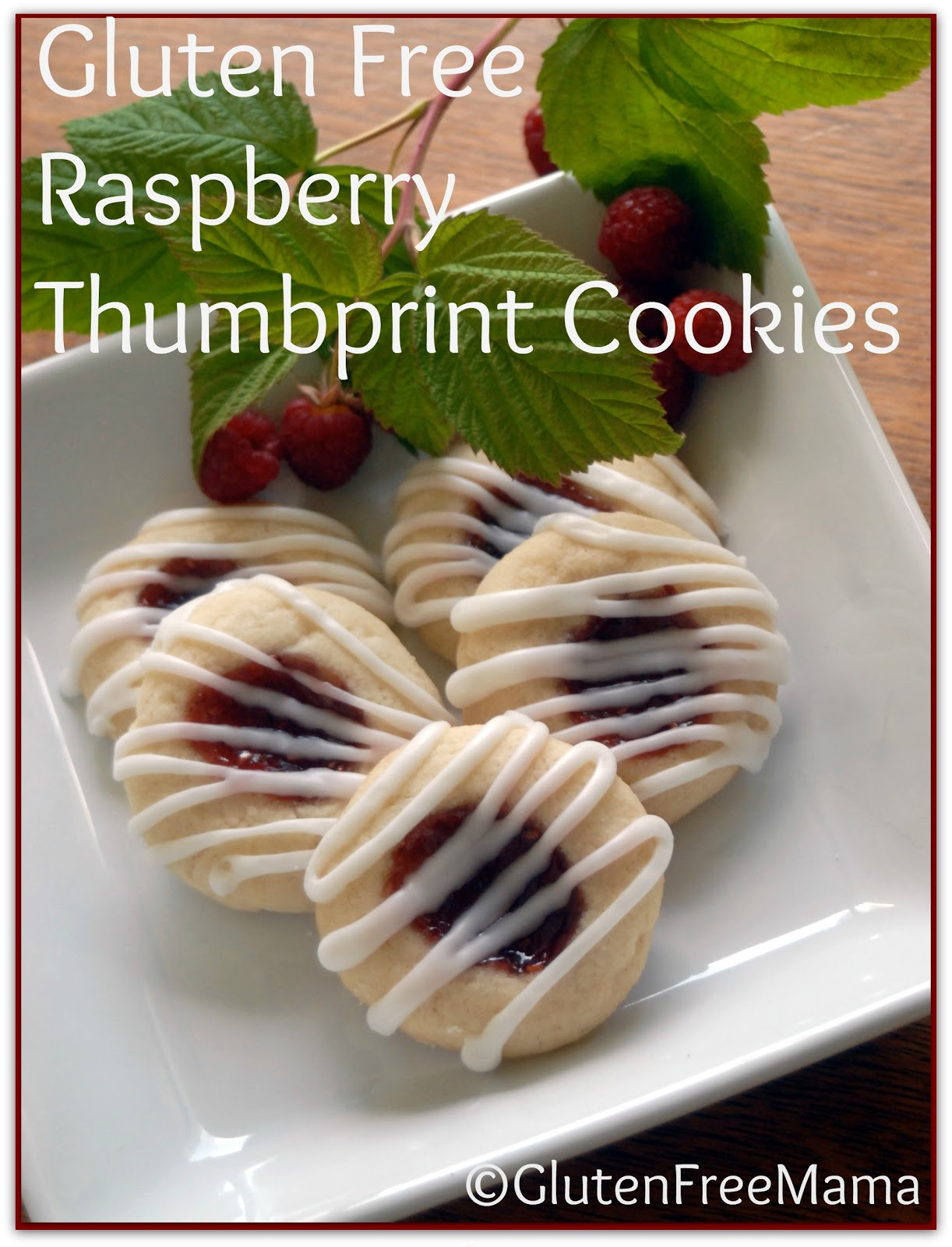 Gluten Free Raspberry Thumbprint Cookies