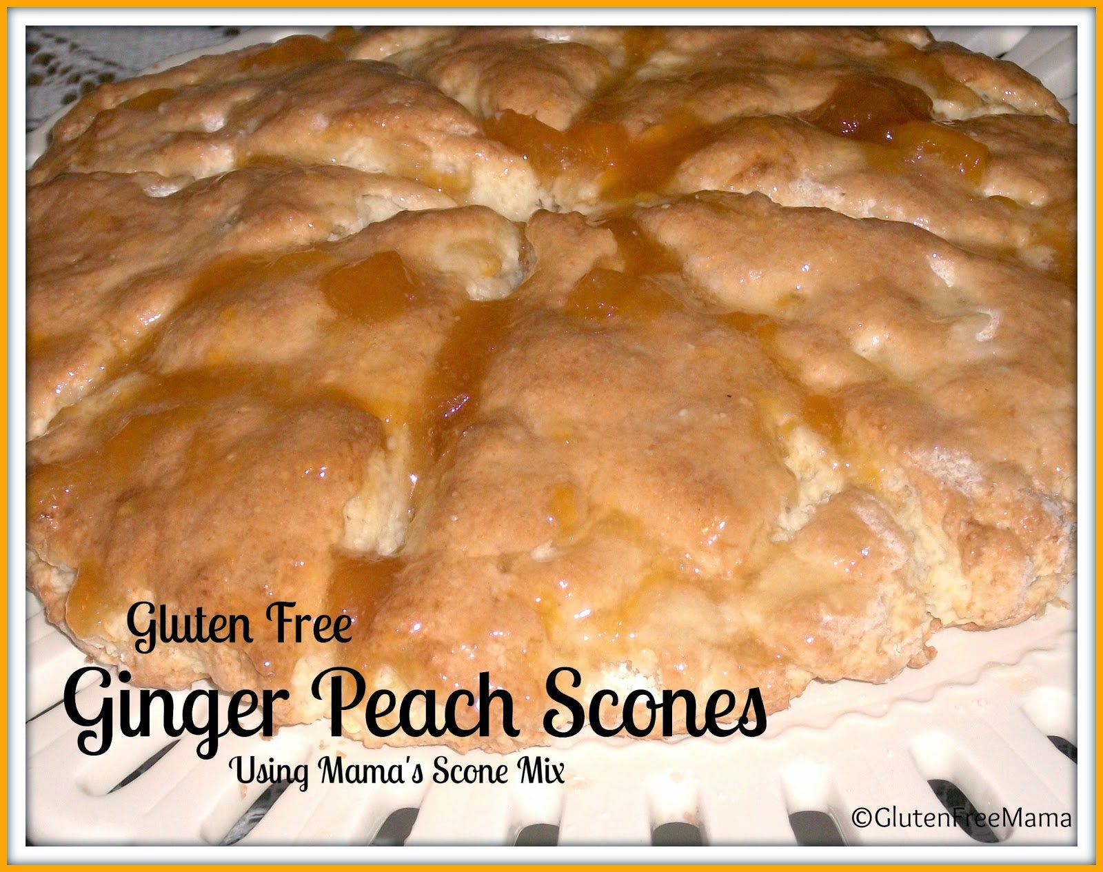 Mama's Scone Mix with Ginger Peach Scones
