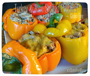 Turkey and Rice Stuffed Peppers ~ Gluten Free Dinner