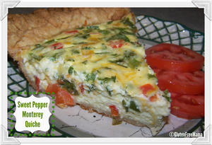 Sweet Pepper Monterey Quiche