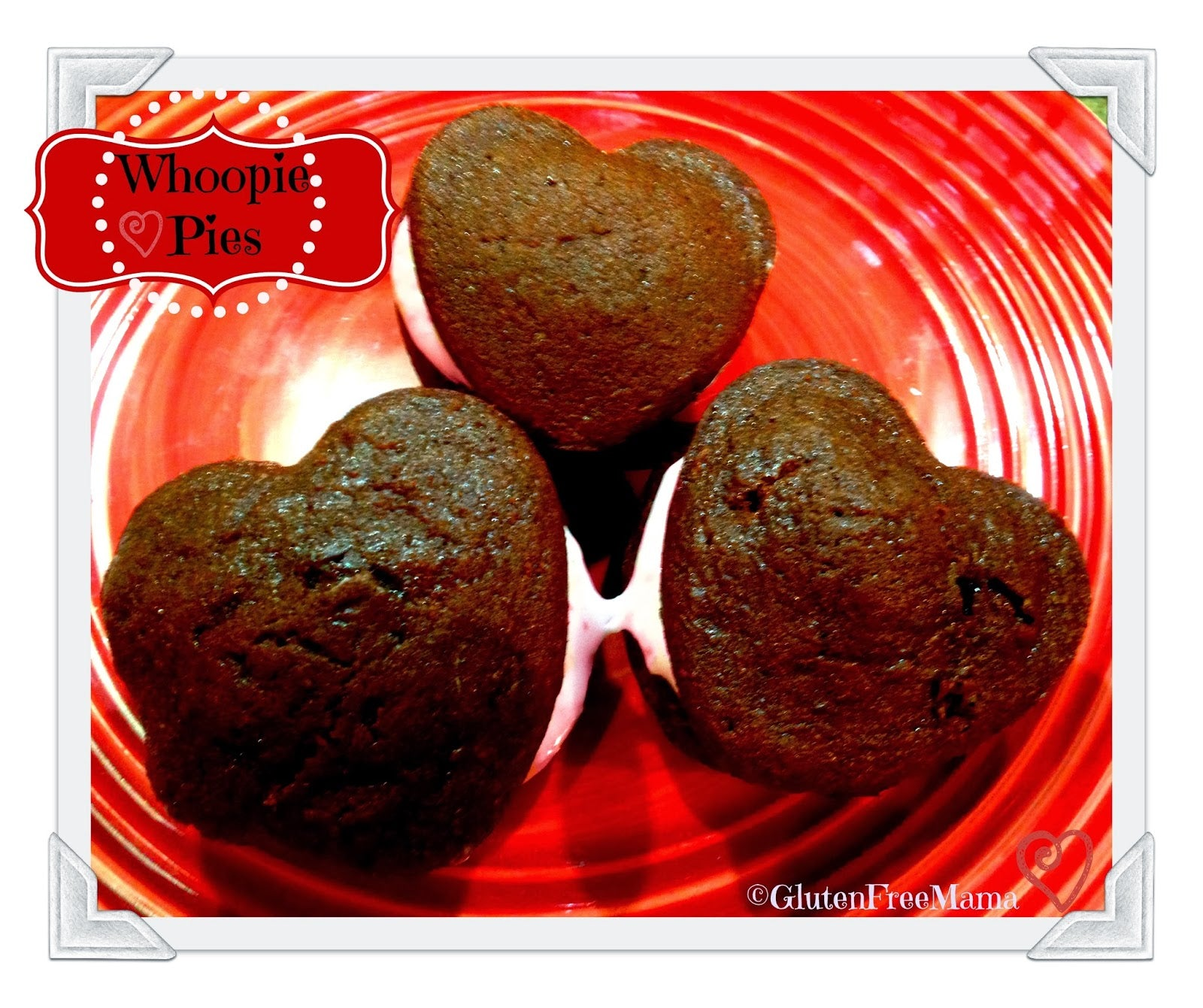 Gluten Free Whoopie Pies ~ Heart Shaped for Valentines Day!