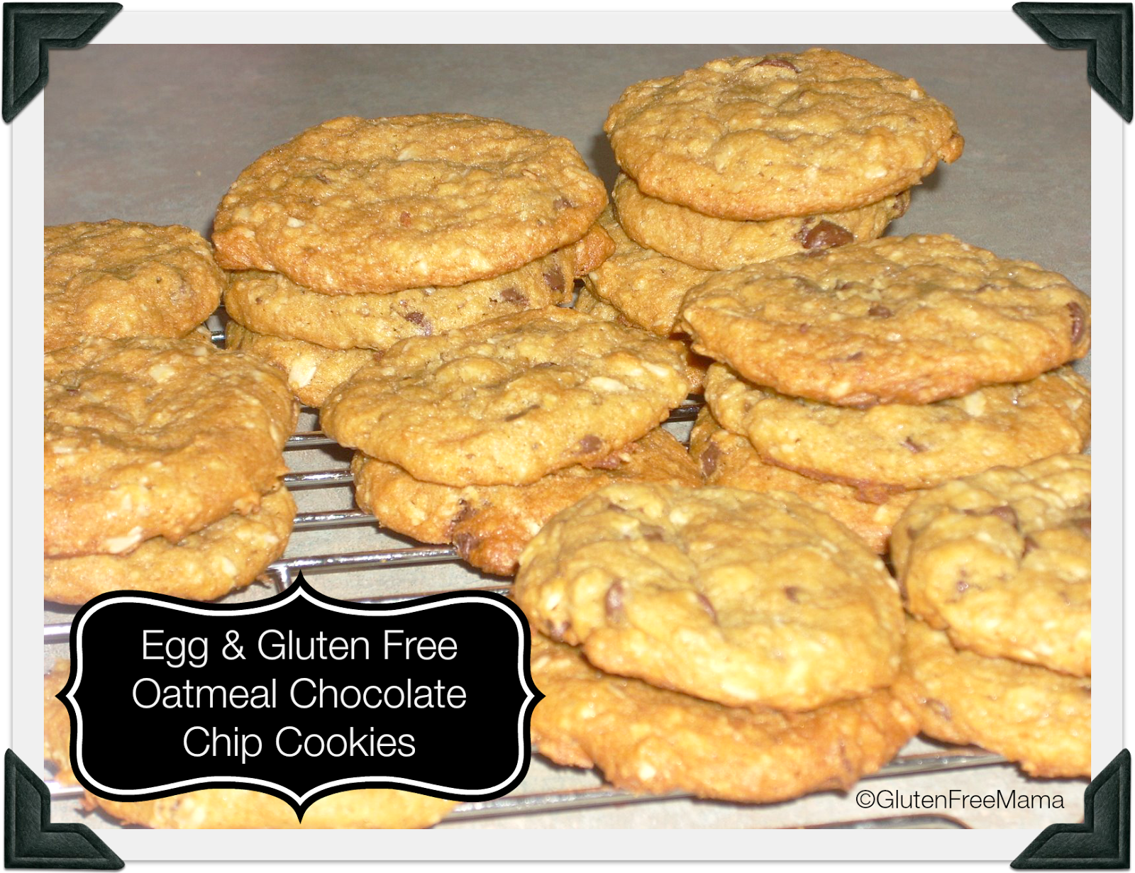 Gluten and Egg Free Oatmeal Chocolate Chip Cookies