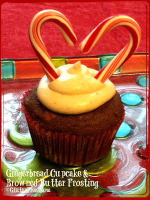 Candy Cane Lane (Gingerbread Cupcake with Browned Butter Buttercream Frosting)