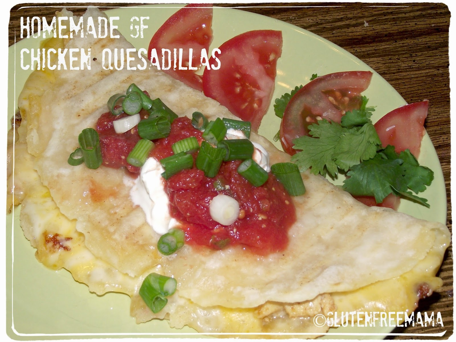 Home-Made Gluten Free Quesadilla's with Home-Made GF Tortillas