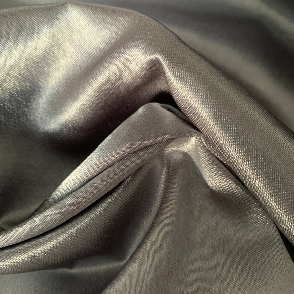 Silver crepe back satin