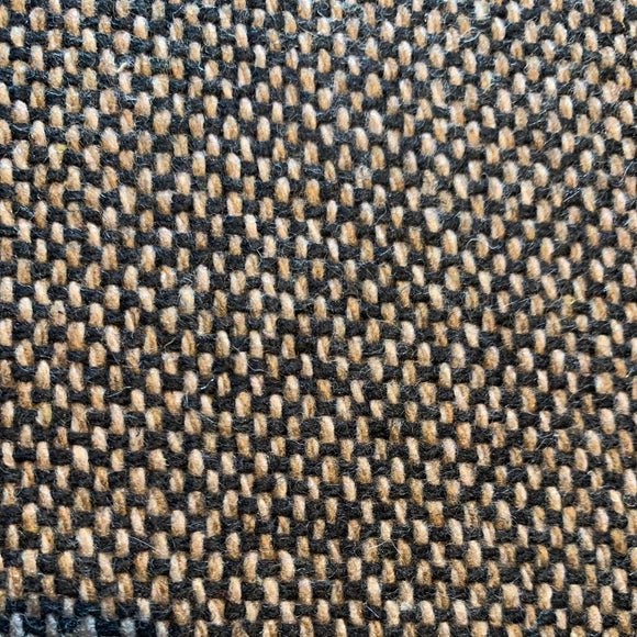 Plain-weave tweed in brown and black