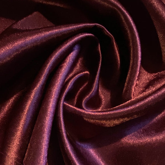 Wine Crepe Back Satin