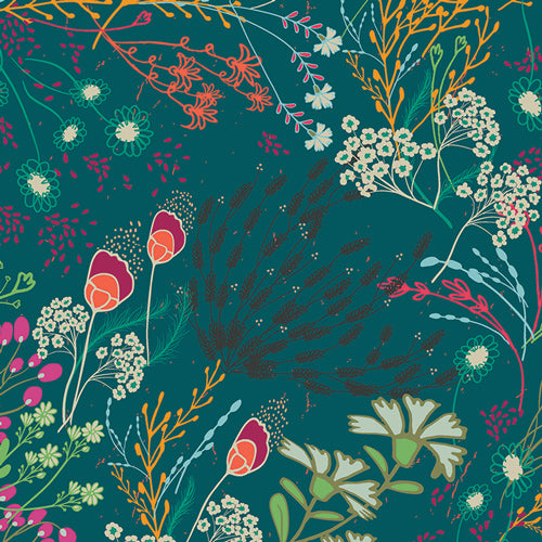 Remnant - 80cm Meadow Bold Rayon from Art Gallery Fabrics